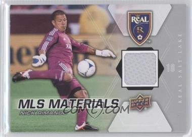 2012 Upper Deck MLS - Materials #M-NR - Nick Rimando