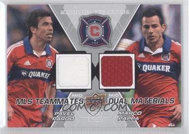 2012 Upper Deck MLS - Teammates Dual Materials #TM-CHI - Pavel Pardo, Marco Pappa
