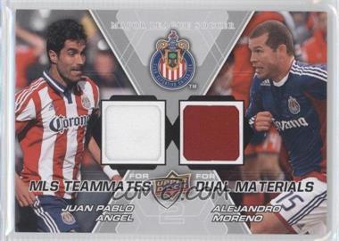 2012 Upper Deck MLS - Teammates Dual Materials #TM-CHV - Juan Pablo Angel, Alejandro Moreno