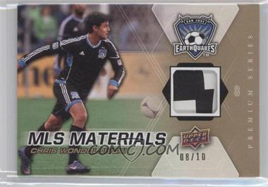 2012 Upper Deck MLS Materials Premium Series Level 2 #M-CW - Chris Wondolowski /10