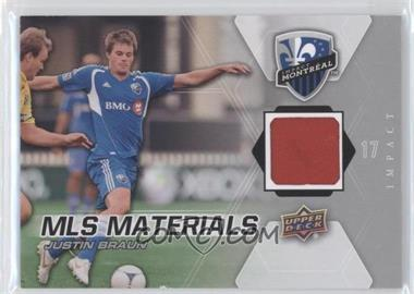 2012 Upper Deck MLS Materials #M-JB - Justin Braun