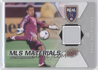 2012 Upper Deck MLS Materials #M-NR - Nick Rimando