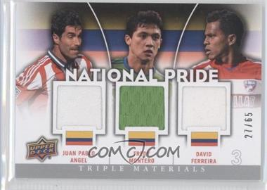 2012 Upper Deck MLS National Pride Triple Materials #NP-COL - David Ferreira, Fredy Montero, Juan Pablo Angel /65