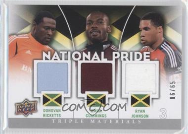 2012 Upper Deck MLS National Pride Triple Materials #NP-JAM - Donovan Ricketts, Ryan Johnson, Omar Cummings /65