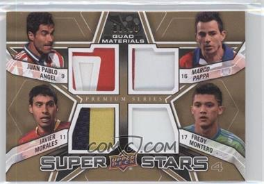 2012 Upper Deck MLS Super Stars Quad Materials Premium Series #SS-APMM - Javier Morales, Juan Pablo Angel, Marco Pappa, Fredy Montero /10