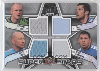 2012 Upper Deck MLS Super Stars Quad Materials #SS-GOL - Matt Reis, Nick Rimando, Tally Hall, Stefan Frei /50