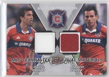 2012 Upper Deck MLS Teammates Dual Materials #TM-CHI - Pavel Pardo, Marco Pappa