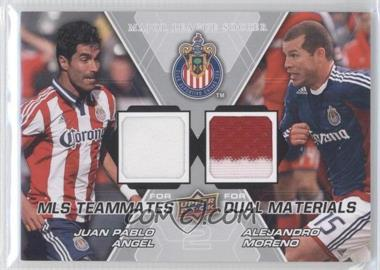 2012 Upper Deck MLS Teammates Dual Materials #TM-CHV - Juan Pablo Angel, Alejandro Moreno