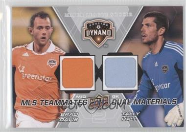 2012 Upper Deck MLS Teammates Dual Materials #TM-HOU - Brad Davis, Tally Hall