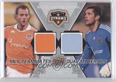 2012 Upper Deck MLS Teammates Dual Materials #TM-HOU - Brad Davis, Tally Hall