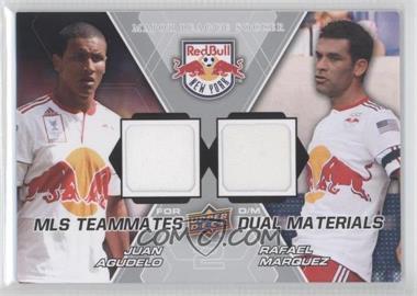2012 Upper Deck MLS Teammates Dual Materials #TM-NY2 - Juan Agudelo, Rafael Marquez