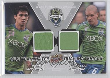 2012 Upper Deck MLS Teammates Dual Materials #TM-SEA - Osvaldo Alonso, Fredy Montero