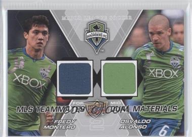 2012 Upper Deck MLS Teammates Dual Materials #TM-SEA - Osvaldo Alonso, Fredy Montero