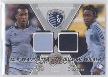2012 Upper Deck MLS Teammates Dual Materials #TM-SKC - Kei Kamara, Teal Bunbury