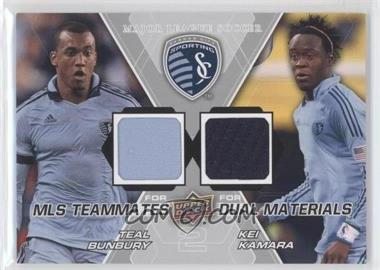 2012 Upper Deck MLS Teammates Dual Materials #TM-SKC - Kei Kamara, Teal Bunbury