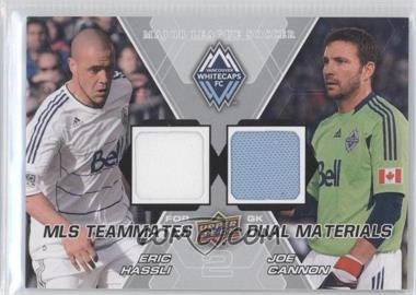2012 Upper Deck MLS Teammates Dual Materials #TM-VAN - Joe Cannon, Eric Hassli