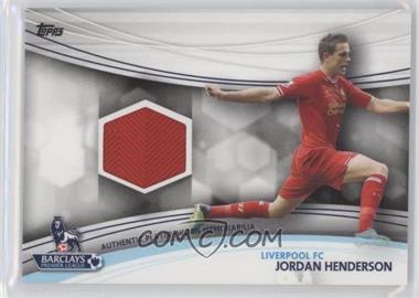 2013 Topps English Premier Gold Jersey Relics #JR-JHE - Jordan Henderson