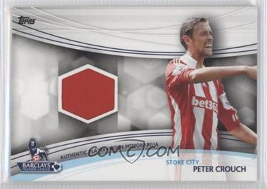 2013 Topps English Premier Gold Jersey Relics #JR-PC - Peter Crouch