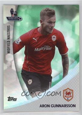 2013 Topps English Premier Gold Midfield Maestros Green #MM-AG - Aron Gunnarsson /99