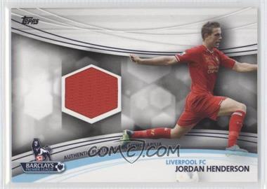 2013 Topps English Premier League Jersey Relics #JR-JHE - Jordan Henderson