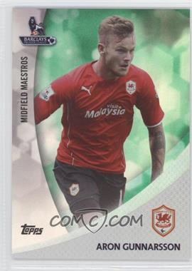 2013 Topps English Premier League Midfield Maestros Green #MM-AG - Aron Gunnarsson /99