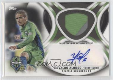 2013 Topps MLS Autographed Relics Black Mulit-Color Prime #AR-OA - Osvaldo Alonso /25