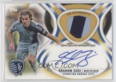 2013 Topps MLS Autographed Relics Gold #AR-GZ - Graham Zusi /50