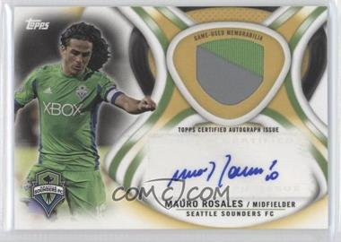 2013 Topps MLS Autographed Relics Gold #AR-MR - Mauro Rosales /50