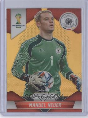 2014 Panini Prizm World Cup - [Base] - Gold Prizms #83 - Manuel Neuer /10
