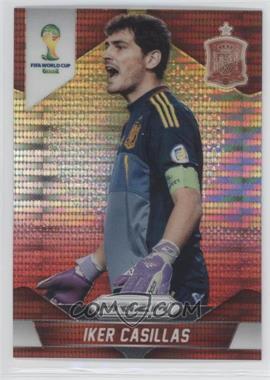 2014 Panini Prizm World Cup - [Base] - Yellow & Red Pulsar Prizms #170 - Iker Casillas