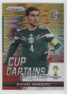 2014 Panini Prizm World Cup - Cup Captains - Yellow & Red Pulsar Prizms #24 - Rafael Marquez