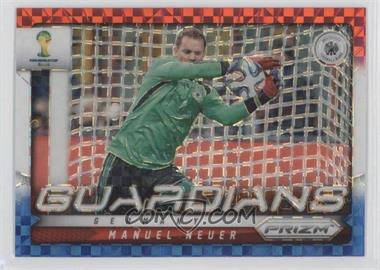 2014 Panini Prizm World Cup - Guardians - Red, White, & Blue Power Plaid Prizms #12 - Manuel Neuer