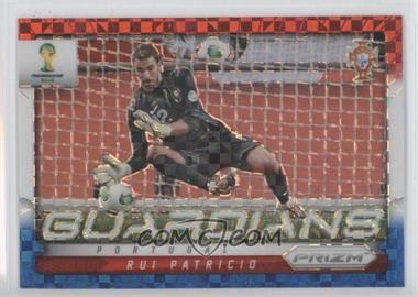 2014 Panini Prizm World Cup - Guardians - Red, White, & Blue Power Plaid Prizms #19 - Rui Patricio