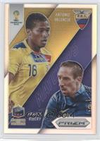 Franck Ribery, Antonio Valencia