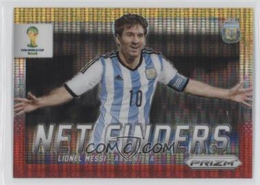 2014 Panini Prizm World Cup - Net Finders - Yellow & Red Pulsar Prizms #2 - Lionel Messi