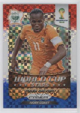 2014 Panini Prizm World Cup - Stars - Red, White, & Blue Power Plaid Prizms #11 - Didier Drogba