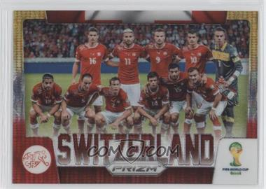 2014 Panini Prizm World Cup - Team Photos - Yellow & Red Pulsar Prizms #30 - Switzerland