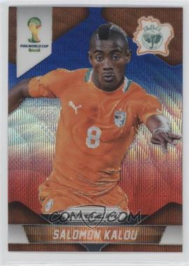 2014 Panini Prizm World Cup Blue & Red Blue Wave Prizms #61 - Salomon Kalou