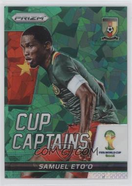 2014 Panini Prizm World Cup Cup Captains Green Crystal Prizms #26 - Samuel Eto'o /25