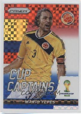 2014 Panini Prizm World Cup Cup Captains Red, White, & Blue Power Plaid Prizms #22 - Mario Yepes