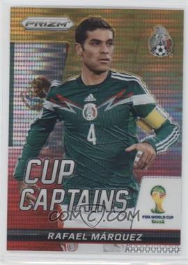 2014 Panini Prizm World Cup Cup Captains Yellow & Red Pulsar Prizms #24 - Rafael Marquez