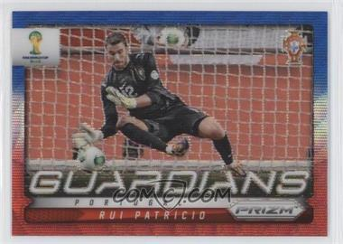 2014 Panini Prizm World Cup Guardians Blue & Red Blue Wave Prizms #19 - Rui Patricio