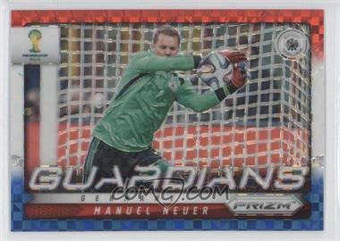 2014 Panini Prizm World Cup Guardians Red, White, & Blue Power Plaid Prizms #12 - Manuel Neuer