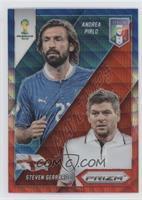 Steven Gerrard, Andrea Pirlo