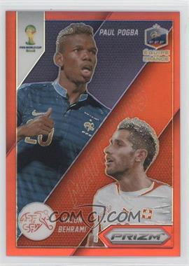2014 Panini Prizm World Cup Matchups Red Prizms #10 - Valon Behrami, Paul Pogba /149