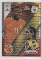 Radamel Falcao, Didier Drogba