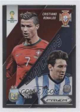2014 Panini Prizm World Cup Matchups #19 - Cristiano Ronaldo, Lionel Messi