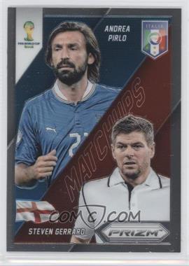 2014 Panini Prizm World Cup Matchups #8 - Steven Gerrard, Andrea Pirlo