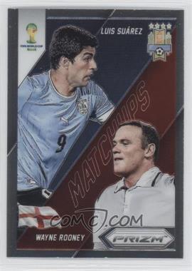 2014 Panini Prizm World Cup Matchups #9 - Luis Suarez, Wayne Rooney