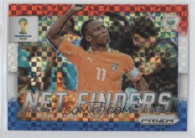 2014 Panini Prizm World Cup Net Finders Red, White, & Blue Power Plaid Prizms #8 - Didier Drogba